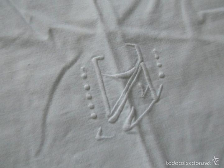 Antigüedades: Sábana bordada + funda de almohada cama grande - Foto 15 - 58663803