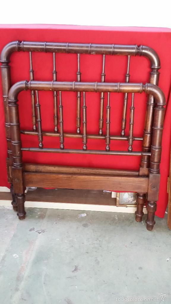 Antigüedades: cama colonial 90cm - Foto 2 - 73675649