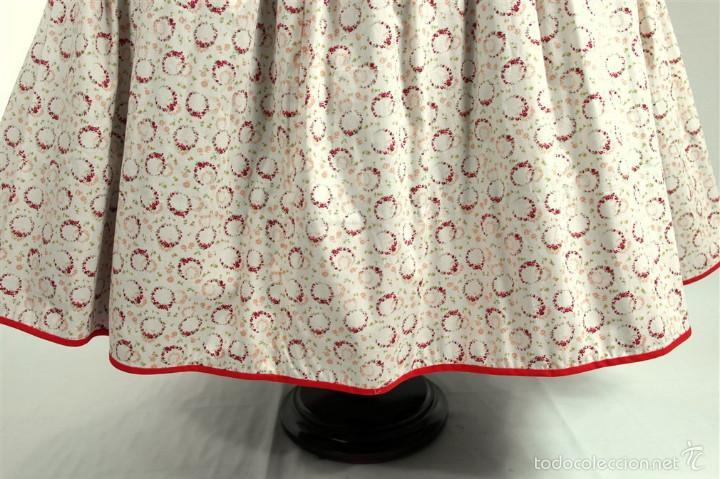 Antigüedades: Saya algodón estampada - Foto 2 - 58679883