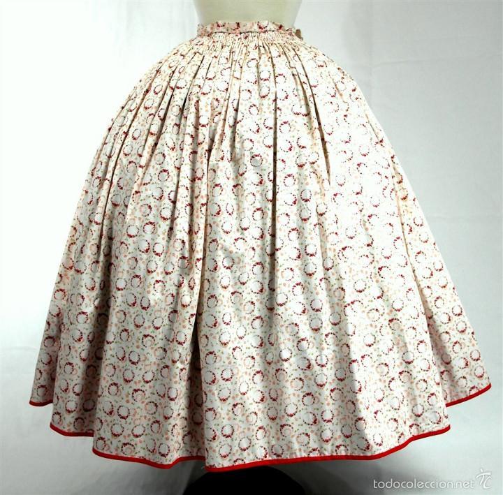 Antigüedades: Saya algodón estampada - Foto 4 - 58679883