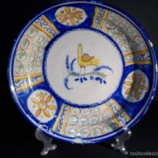 Antigüedades: PLATO ANTIGUO DE CERÁMICA MANISES ESPAÑOL. Lote 58680281
