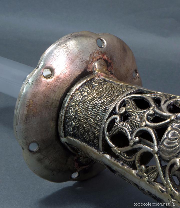Antigüedades: Pie lámpara sobremesa bronce plateado estilo oriental S XX Funciona - Foto 12 - 58682684
