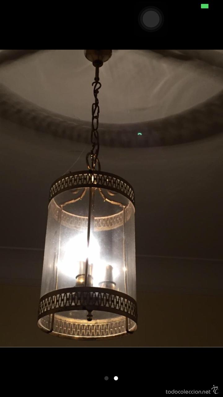 LAMPARA FAROL (Antigüedades - Iluminación - Faroles Antiguos)