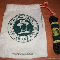 Antigüedades: CORDONES Y FUNDA DE TELA PARA UTILES LIMPIEZA DE PANAMA JACK . Lote 58693096