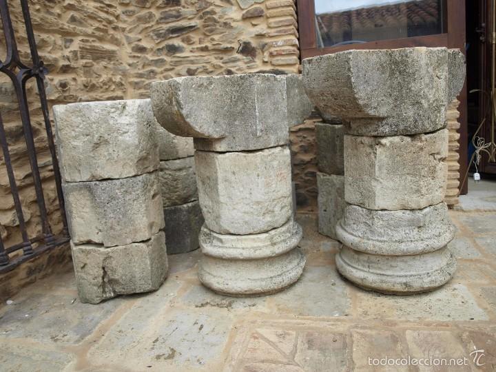 DOS COLUMNAS OCTOGONALES DEL SIGLO XVII (Antigüedades - Varios)
