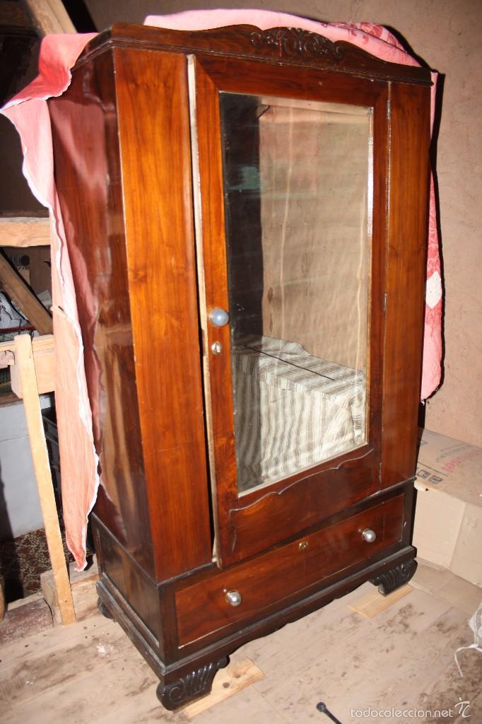 Aparador Corredor Apartamento ~ armario con espejo Comprar Armarios Antiguos en todocoleccion 58714885