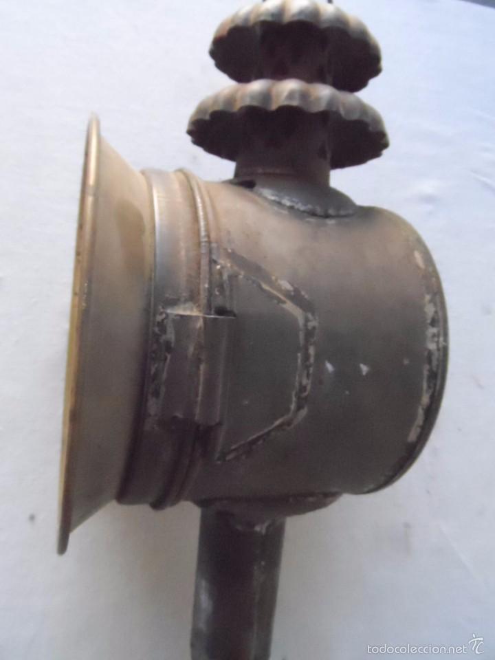 Antigüedades: lampara farol mas de 100 años 100 % autentico (no repintado) excelente estado marca b lyon - Foto 11 - 58715083