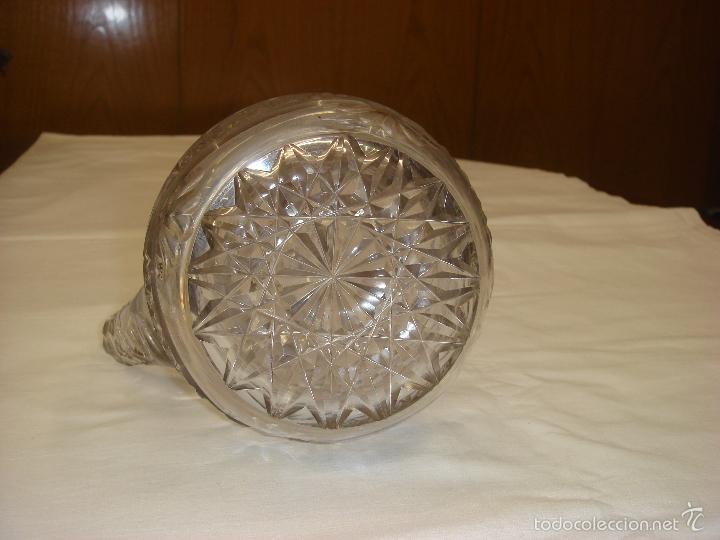 Antigüedades: ANTIGUA Y MAGNIFICA JARRA EN CRISTAL DE BOHEMIA TALLADO CON TAPA DE PLATA. C1930 - Foto 11 - 58727662