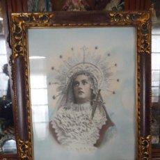 Antigüedades: GRAN MARCO MADERA SEMANA SANTA FOTOGRAFIA COLOREADA DOLOROSA VIRGEN DE LOS DOLORES HELLIN ALBACETE. Lote 58730896