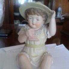 Antigüedades: PRECIOSA Y MUY ANTIGUA FIGURA DE BISCUIT.. Lote 58743702