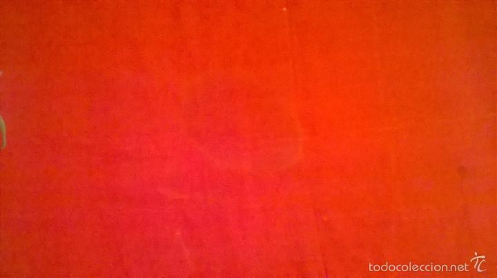 Antigüedades: ANTIGUO MANTON DE MANILA FINALES.XIX PP XX. SEDA FINA ROJO BERMELLÓN.BORDADO A MANO.ESPECTACULAR - Foto 27 - 58675789