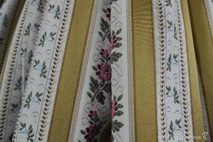 Antigüedades: Saya de seda brocada - Foto 4 - 58752257