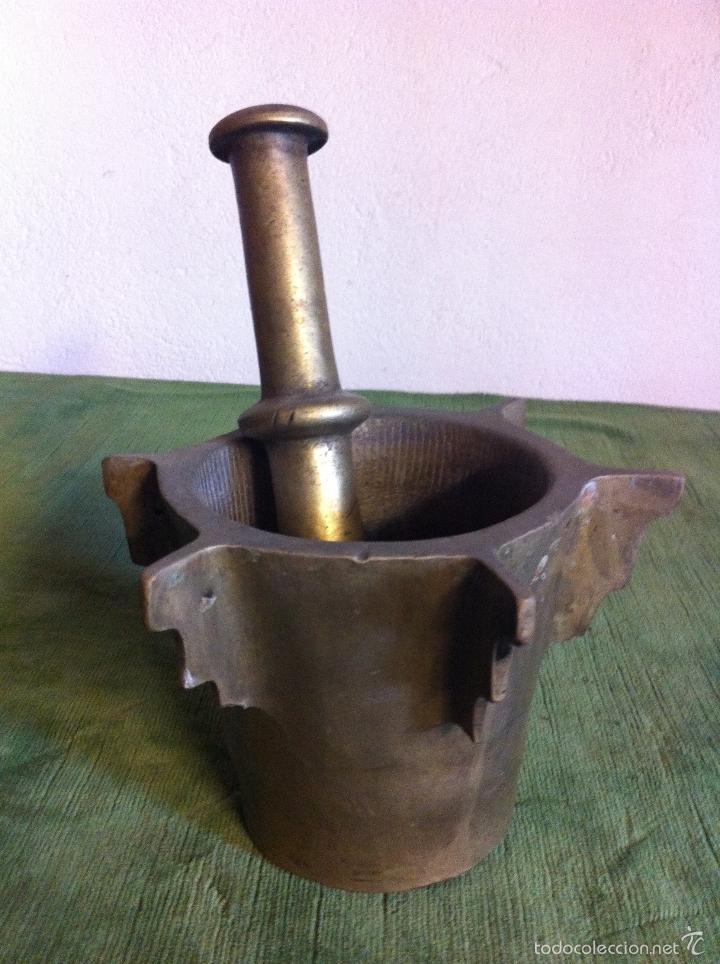 Antiquisimo mortero o almirez de cocina con ale comprar utensilios del hogar antiguos en - Mortero de cocina ...