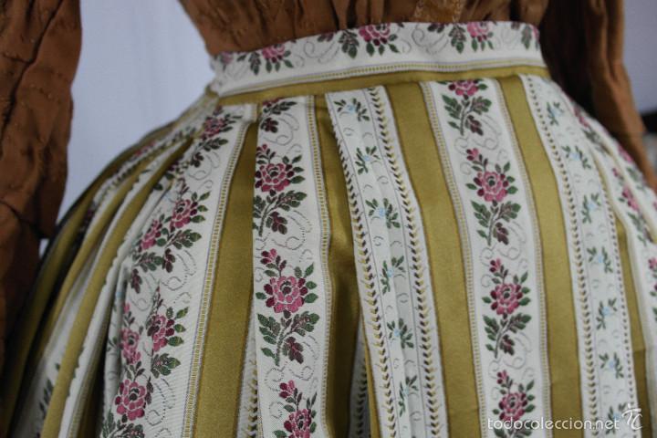 Antigüedades: Saya de seda brocada - Foto 3 - 58752257