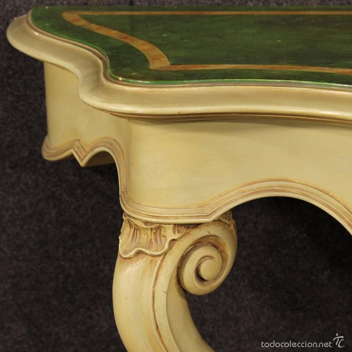 Antigüedades: Consola veneciana lacada y pintada - Foto 4 - 58800911
