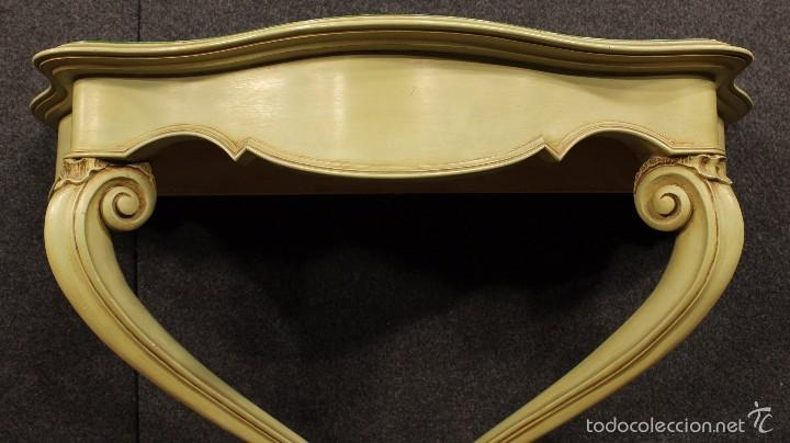 Antigüedades: Consola veneciana lacada y pintada - Foto 6 - 58800911