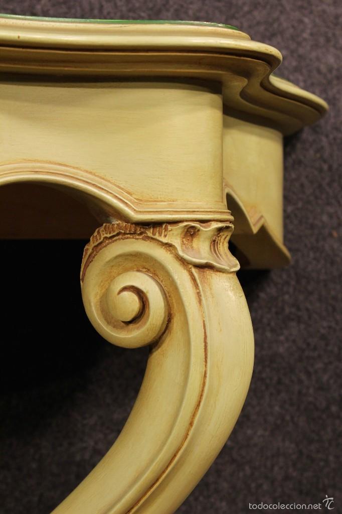 Antigüedades: Consola veneciana lacada y pintada - Foto 7 - 58800911