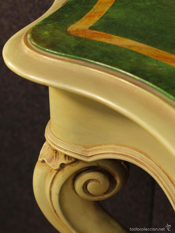 Antigüedades: Consola veneciana lacada y pintada - Foto 10 - 58800911
