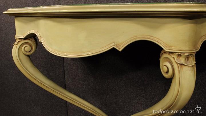 Antigüedades: Consola veneciana lacada y pintada - Foto 11 - 58800911