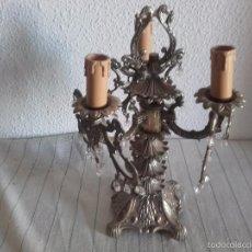 Antigüedades: ANTIGUO Y BONITO CANDELABRO DE 3 BRAZOS, ELECTRIFICADO. Lote 58839811