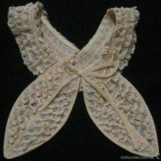 Antigüedades: ANTIGUA CHORRERA DE ENCAJE DE VALENCIENNES PPIO.S.XX.. Lote 58841541