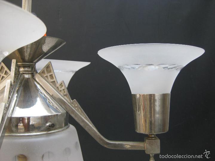 Antigüedades: LAMPARA ANTIGUA MODERNISTA ART DECO ART NOUVEAU ATELIER HENRI PETITOT - Foto 8 - 58884611
