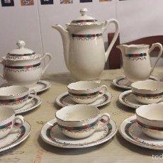 Antigüedades: ANTIGUO JUEGO DE CAFE DE SARREGUEMINES. Lote 58886896
