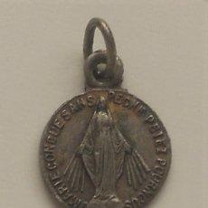 Antigüedades: MEDALLA ANTIGUA FRANCESA DE LA VIRGEN MARÍA (RUEGA POR NOSOTROS). Lote 58938875
