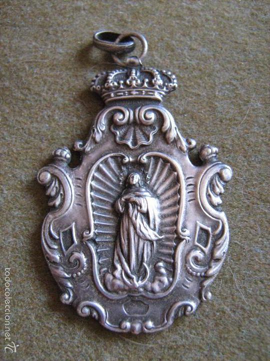 ANTIGUA MEDALLA DE PLATA DE LA SANTA Y REAL HERMANDAD DE NTRA SRA DEL REFUGIO Y PIEDAD DE ZARAGOZA (Antigüedades - Religiosas - Medallas Antiguas)