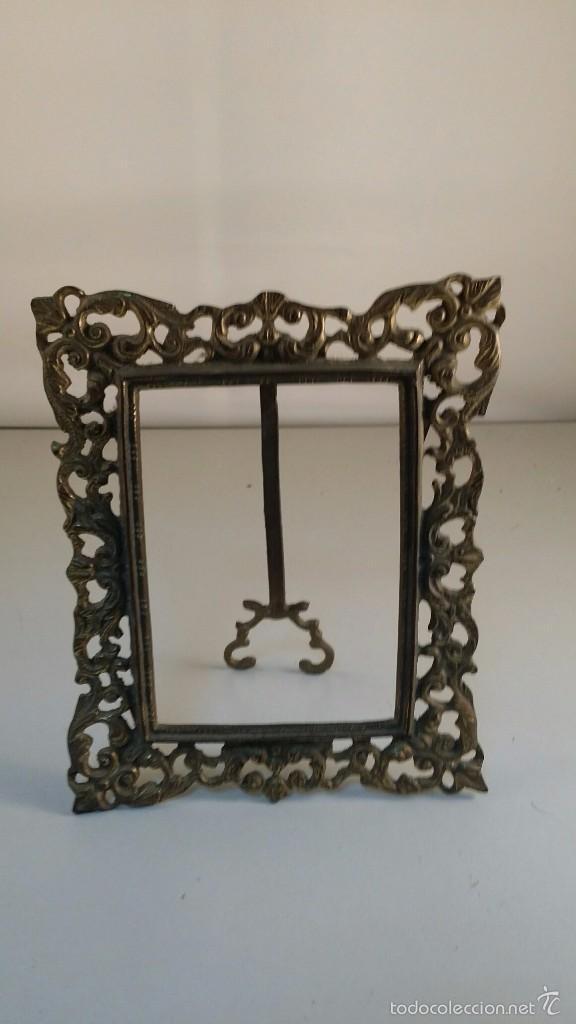 antiguo marco de bronce. tamaño total 13x17 cm. - Comprar Marcos ...