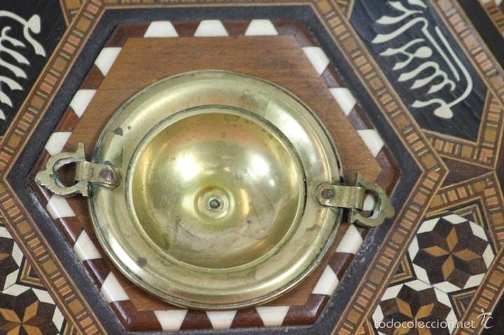 Antigüedades: CENICERO EN MINIATURA. MADERA TARACEADA. GRANADA. SIGLO XX. - Foto 9 - 59132620