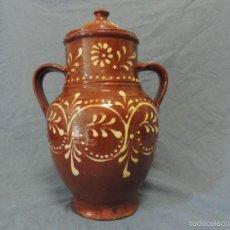 Antigüedades: ANTIGUA ORZA CON TAPA. Lote 59151185