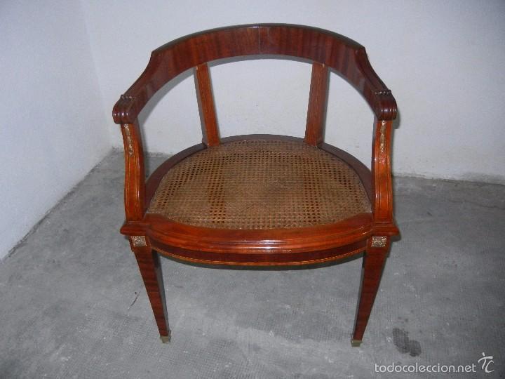 SILLON DESPACHO CAOBA CON REJILLA (Antigüedades - Muebles Antiguos - Sillones Antiguos)