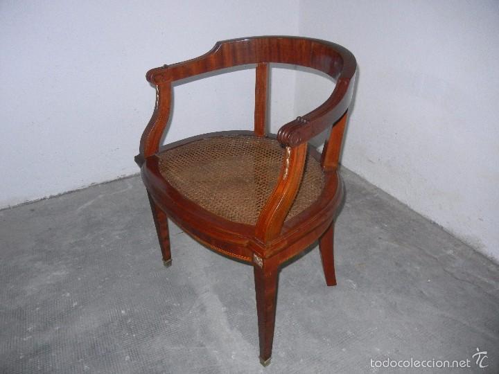 Antigüedades: SILLON DESPACHO CAOBA CON REJILLA - Foto 2 - 59162290