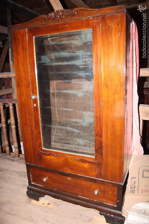 Antigüedades: Armario con espejo. - Foto 4 - 58714885