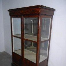 Antigüedades: VITRINA DE PALMA DE CAOBA. Lote 59165775