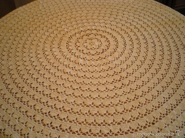 Antigüedades: PRECIOSO TAPETE DE GANCHILLO O CROCHET - Foto 3 - 59390100