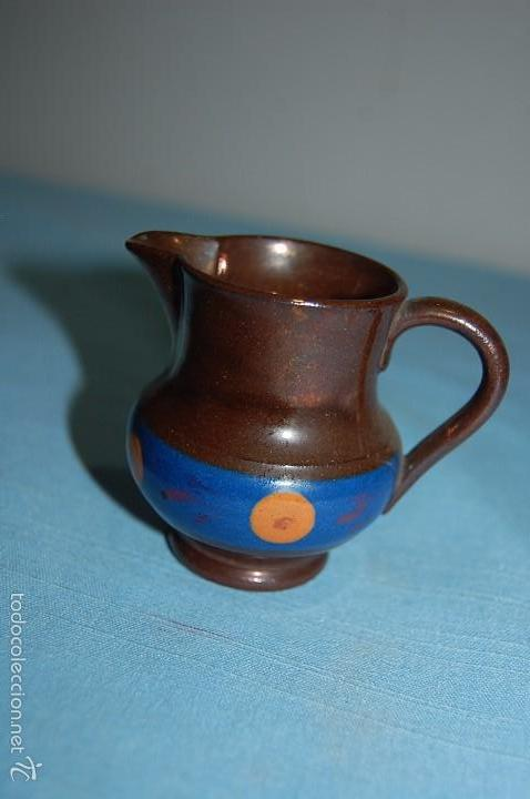 JARRA REFLEJOS EN PORCELANA BRISTOL O REFLEJOS DE 7 CM ALTURA (Antigüedades - Porcelanas y Cerámicas - Inglesa, Bristol y Otros)