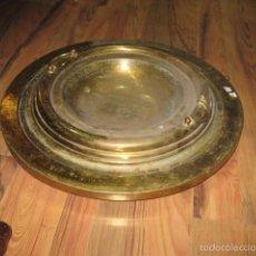 Antigüedades: BRASERO ANTIGUO 45 CM. CON PORTABRASERO FORRADO LATÓN - MEDIDA 60 CM.. Lote 59436815