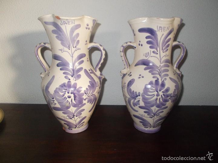 PAREJA DE JARRAS CERÁMICA DE LA PROVINCIA DE JAÉN (Antigüedades - Porcelanas y Cerámicas - Otras)