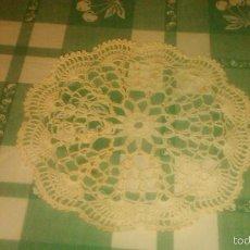 Antigüedades: ANTIGUO TAPETE DE GANCHILLO ,BLANCO ALGODÓN. . Lote 59472725