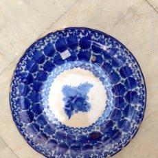 Antigüedades: PLATO DE TALAVERA/ MANISES DEL SIGLO XIX. Lote 59481473