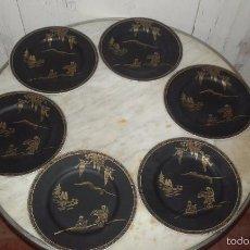 Antigüedades: 6 PLATOS PLANOS, PORCELANA CHINA. Lote 59496779