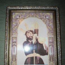 Antigüedades: ANTIGUO AZULEJO ENMARCADO NUESTRO PADRE JESUS NAZARENO - LAS CABEZAS DE SAN JUAN - SEVILLA. Lote 59507247