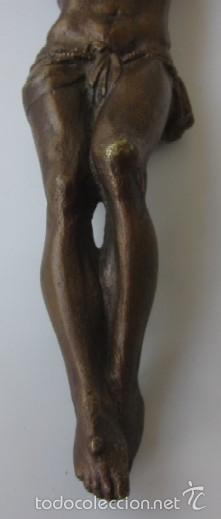 Antigüedades: IMAGEN CRUCIFICADO EN BRONCE - CRISTO DE TRES CLAVOS - Foto 3 - 59583295