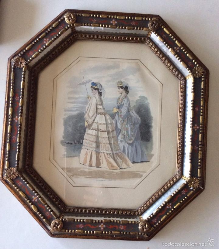 precioso marco antiguo con forma octogonal en m - Comprar Marcos ...