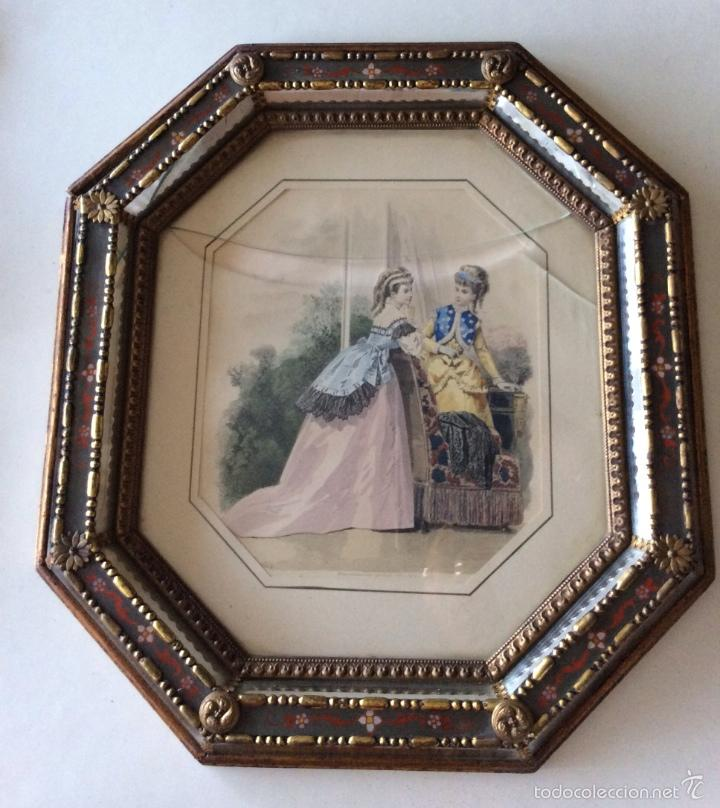 precioso marco antiguo , con cristal madera pol - Comprar Marcos ...