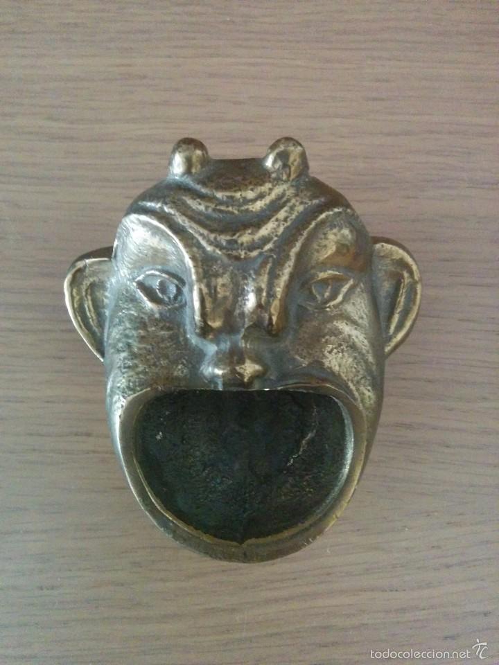 ANTIGUO CENICERO BRONCE (Antigüedades - Hogar y Decoración - Ceniceros Antiguos)