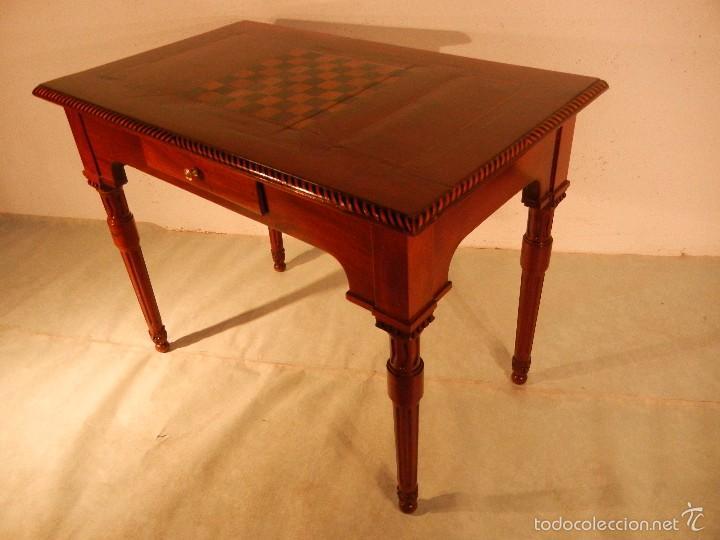 MESA DE DESPACHO Y DE JUEGO LUIS XVI (Antigüedades - Muebles Antiguos - Mesas de Despacho Antiguos)