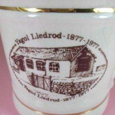Antigüedades: TAZÓN-COFFE MUG-ENGLAND-CºYAGOL LLEDROD(1877-1977)-12X9X9 CMS-NUEVO-VER FOTOS. Lote 59636791